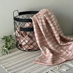 project 62 Woven Line Work Throw Blush